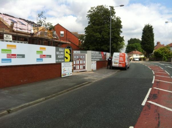 site hoarding signage